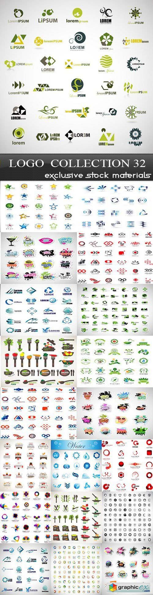 Collection of Logos vol.32, 25xEPS