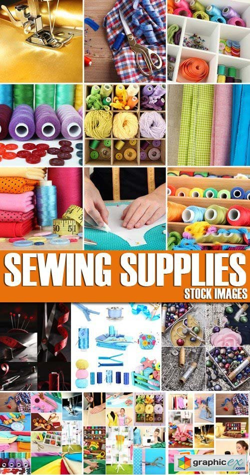 Stock Photos - Sewing Supplies, 25xJPG