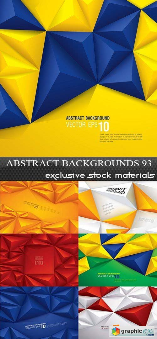 Collection of Vector Abstract Backgrounds Vol.93, 25xEPS