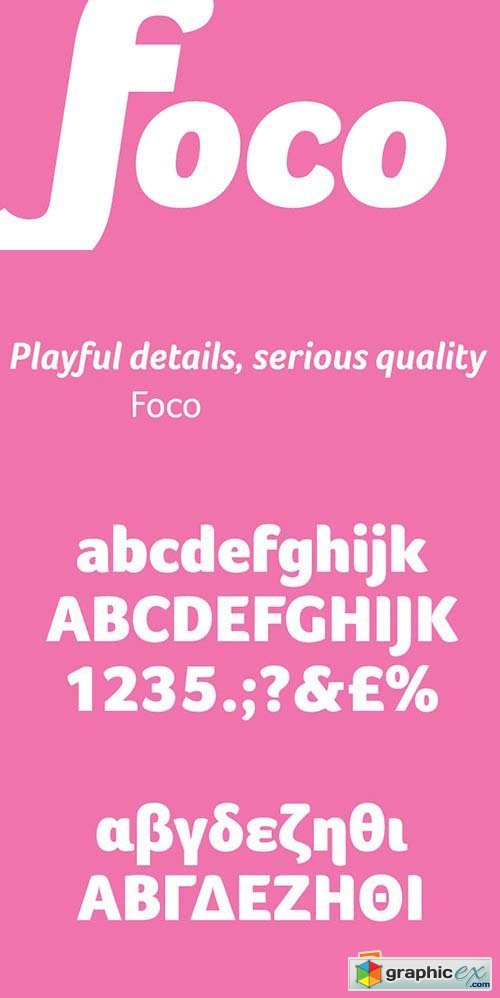 Foco Font Family - 8 Fonts $648