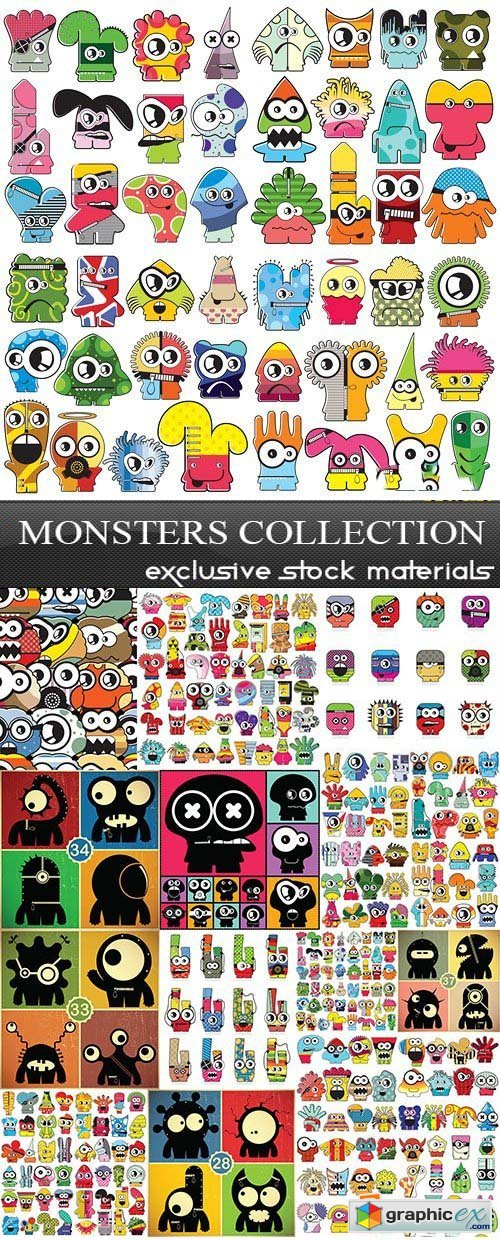 Monsters Collection, 25xEPS