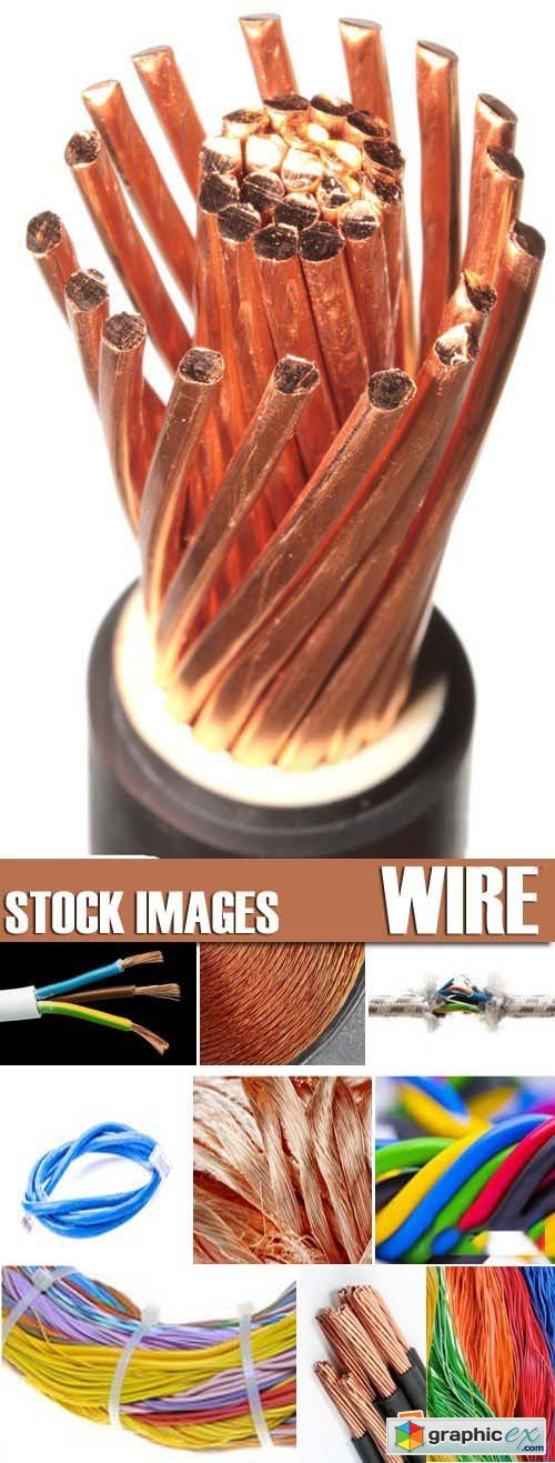 Stock Photos - Wire, conductor, 25xJPG