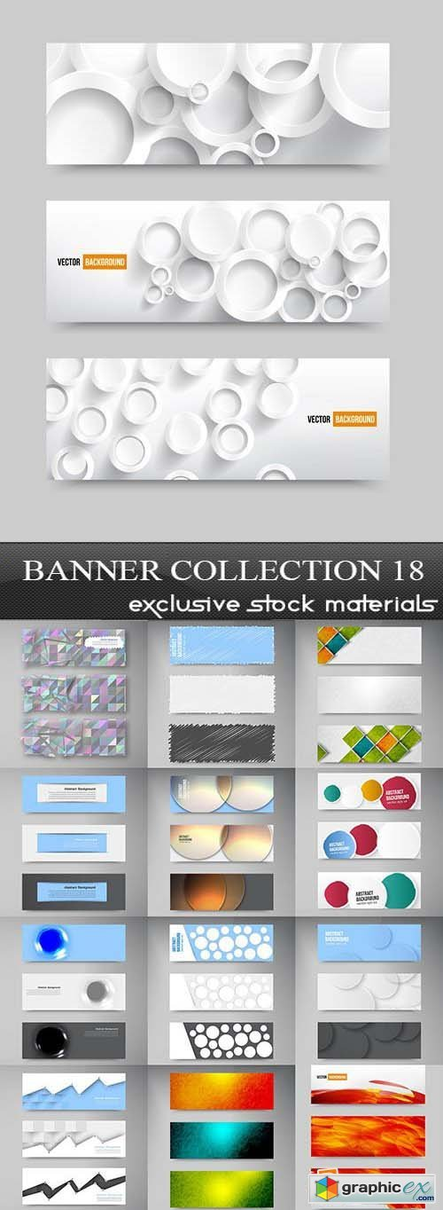 Collection of vector banners vol.18, 25xEPS