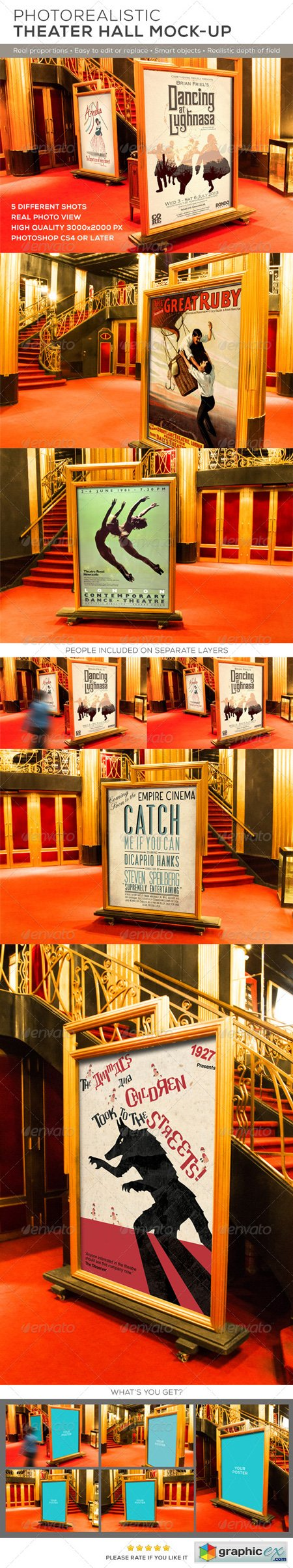 Theater Hall Poster Mock-up 8504942
