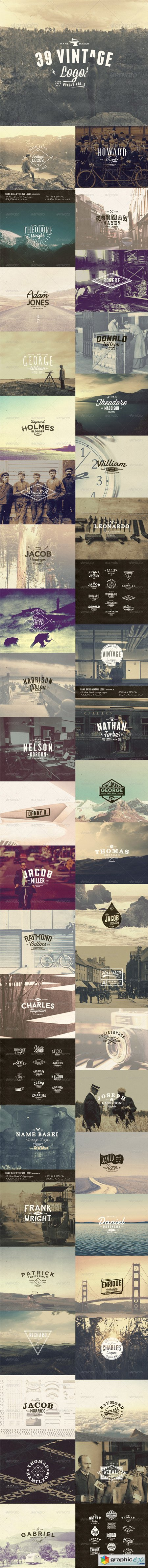 39 Name Based Vintage Logos Bundle Volume 2 8241390
