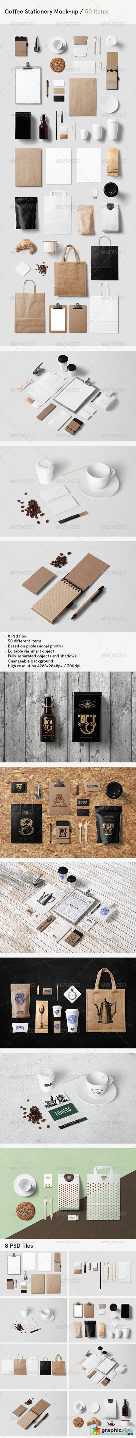 Coffee Branding Stationery Mock-Up 8469695