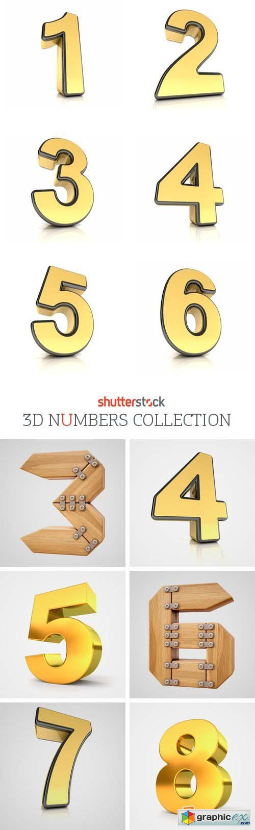 Amazing SS - 3D Numbers Collection, 30xJPGs