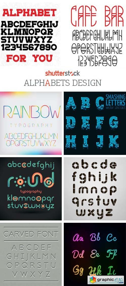 Amazing SS - Alphabets Design, 25xEPS