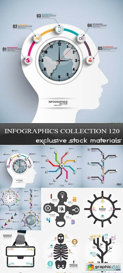 Collection of infographics vol.120, 25xEPS