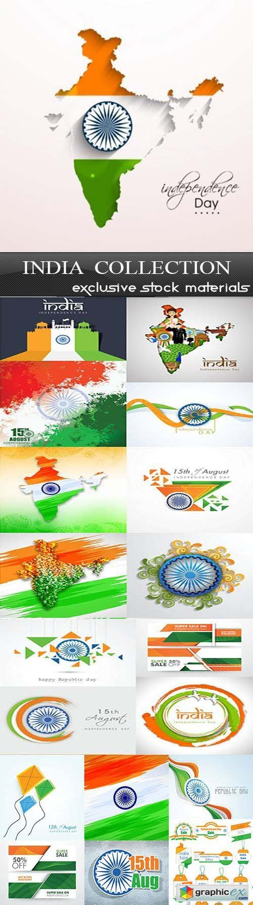 India Collection - Independence Day, 25xEPS