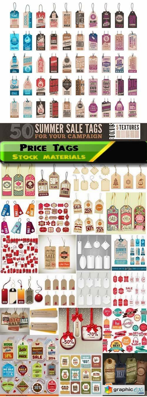 Price Tags Template Design Sale concept 25xEPS
