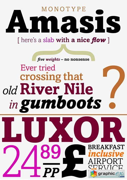Amasis Font Family - 10 Fonts $290