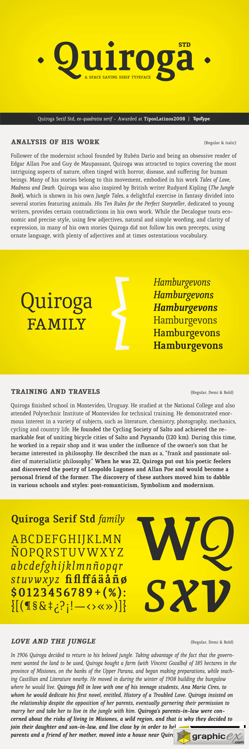 Quiroga Serif Font Family - 6 Fonts for $99