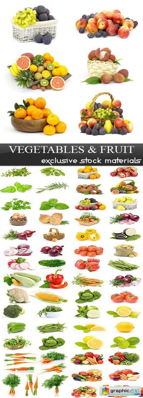 Vegetables and Fruit, 25xUHQ JPEG