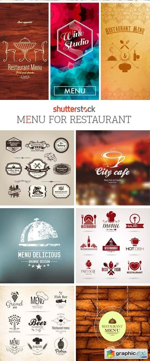 Amazing SS - Menu for Restaurant, 25xEPS