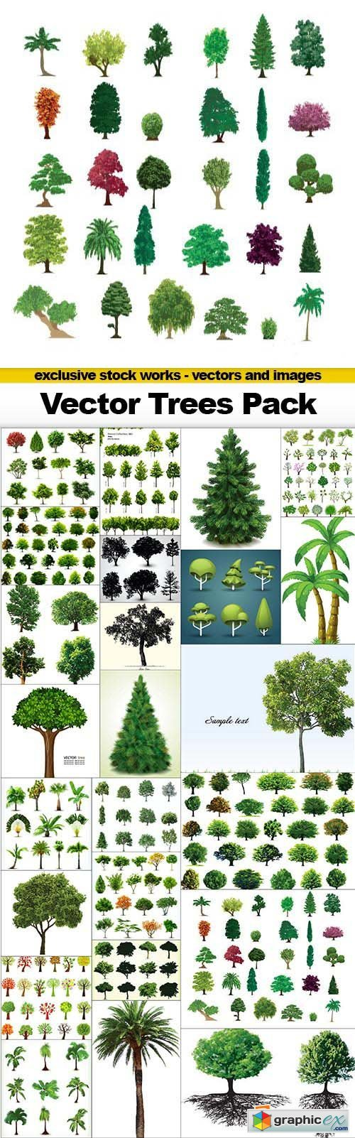 Vector Trees Pack - 25x EPS