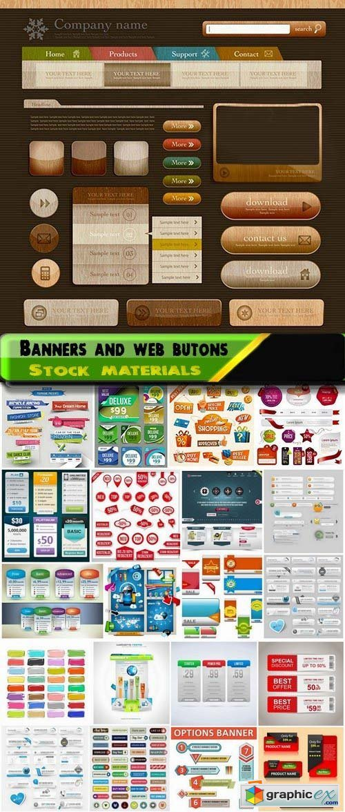 Banners and web butons in vector 25xEPS