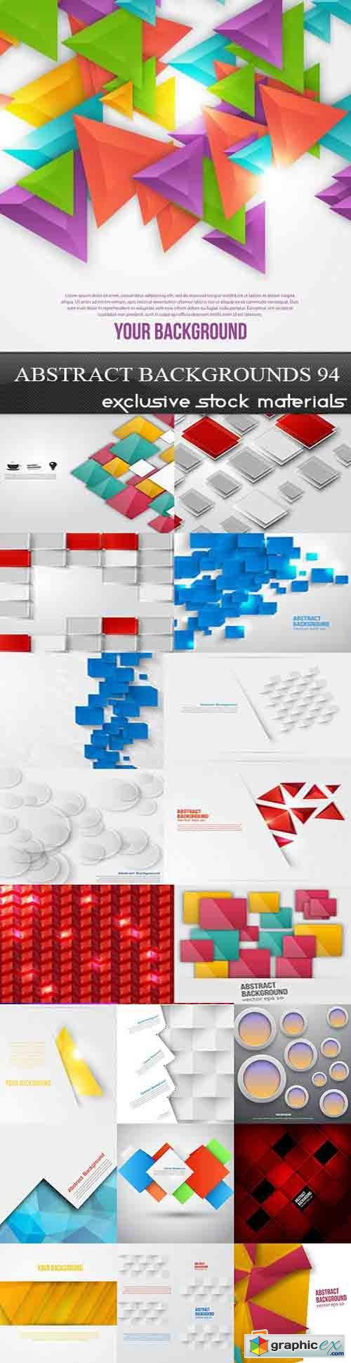 Collection of Vector Abstract Backgrounds Vol.94, 25xEPS