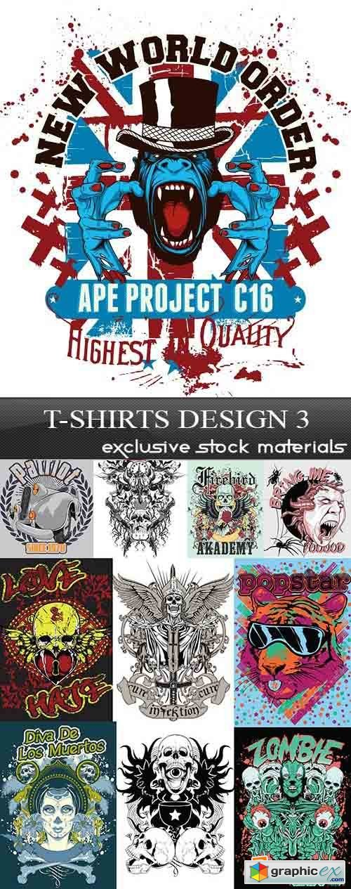 T-Shirts Design 3, 30xEPS