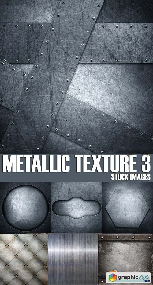 Stock Photos - Metallic texture 3, 25xJPG