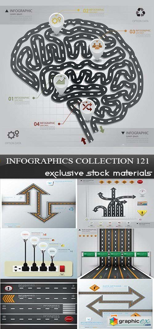 Collection of infographics vol.121, 25xEPS