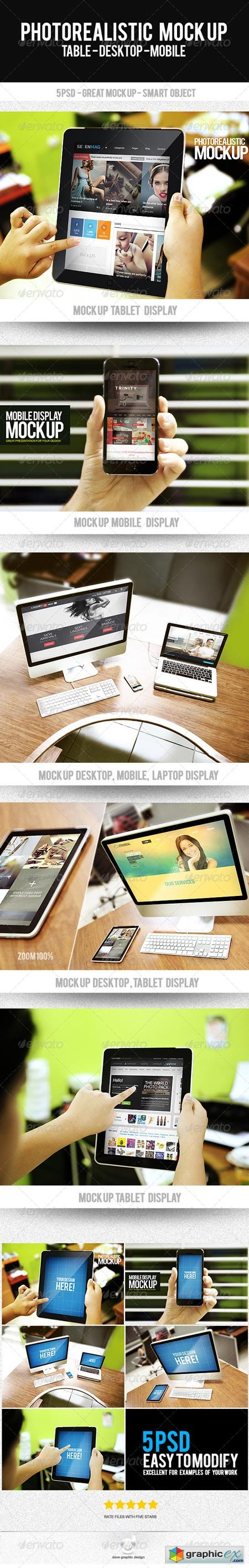 Photorealistic Mock Up Display Web 8467085