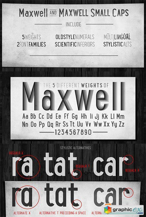 Maxwell Sans Font Family - 20 Font $240