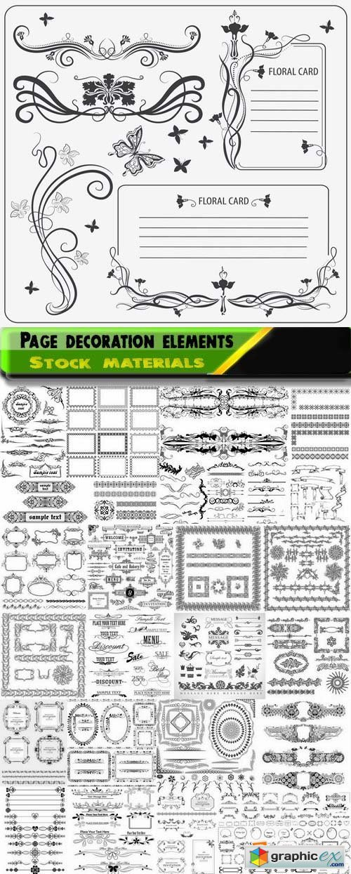 Different template patterns for page decoration 4 25xEPS
