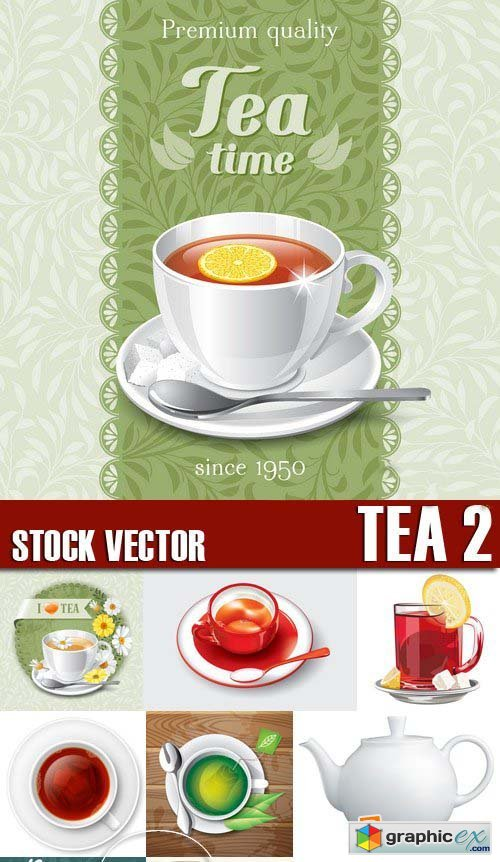 Stock Vectors - Tea 2, 25xEPS