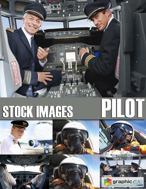 Stock Photos - Pilot, 25xJPG
