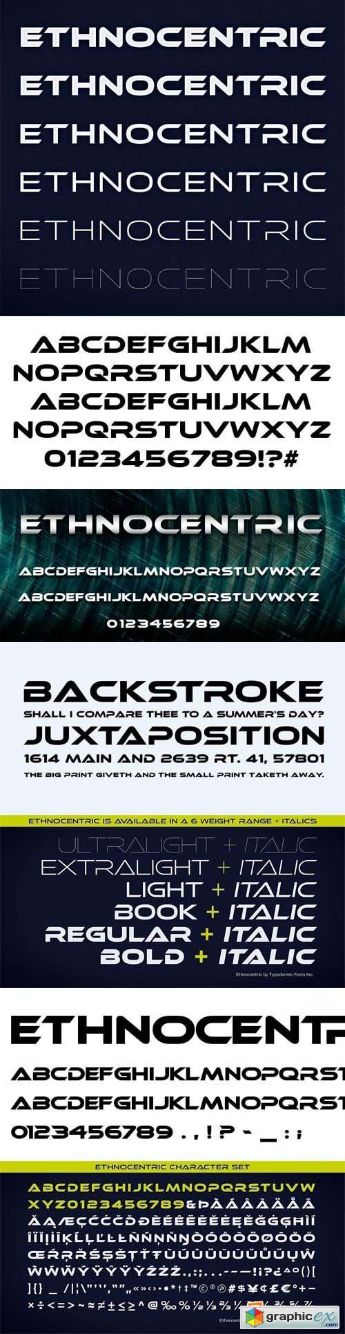 Ethnocentric Font Family - 12 Fonts for $240