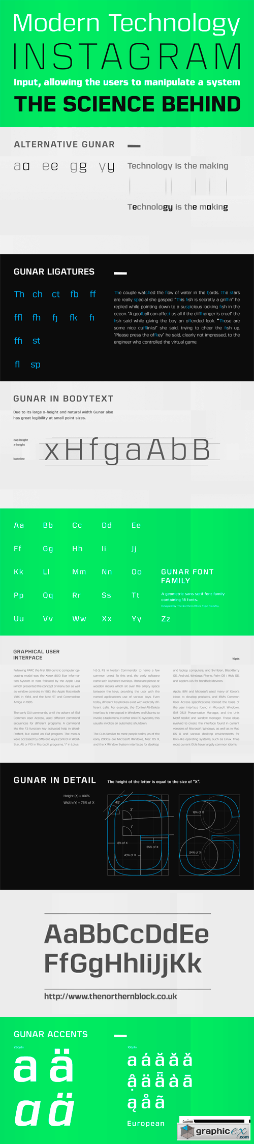 Gunar Font Family - 18 Fonts for $269