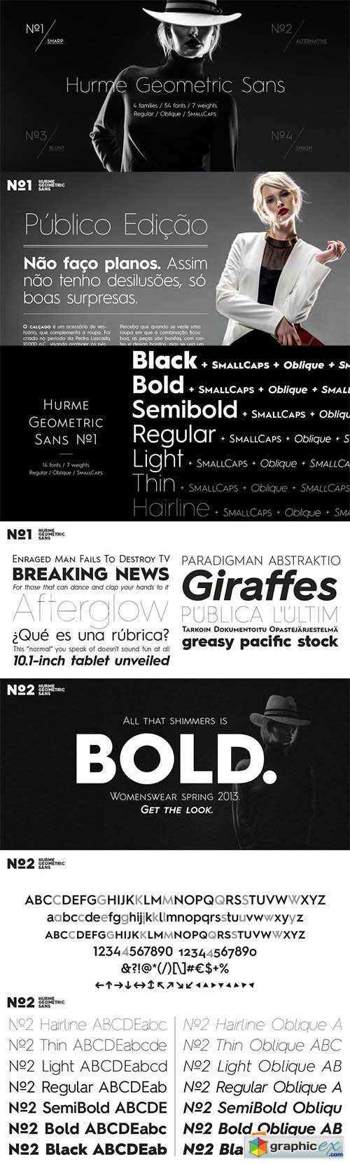 Hurme Geometric Sans No.Font Family - 56 Fonts $2744