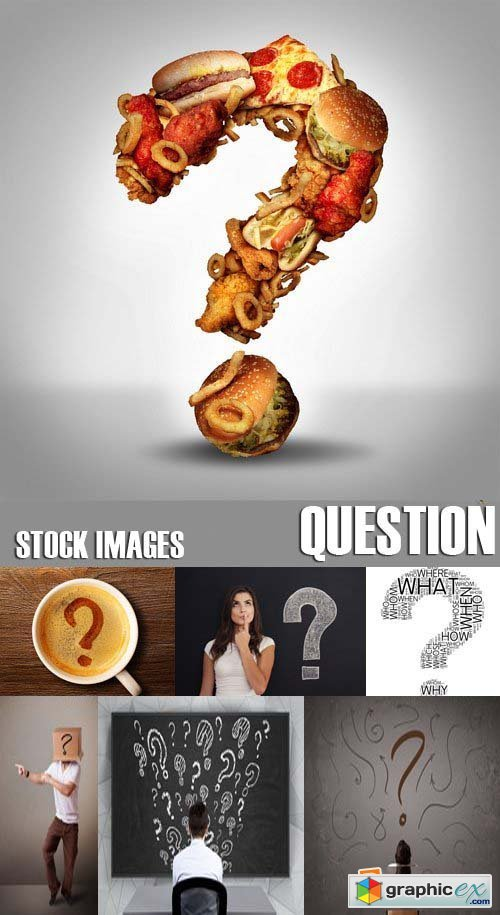 Stock Photos - Question, 25xJPG
