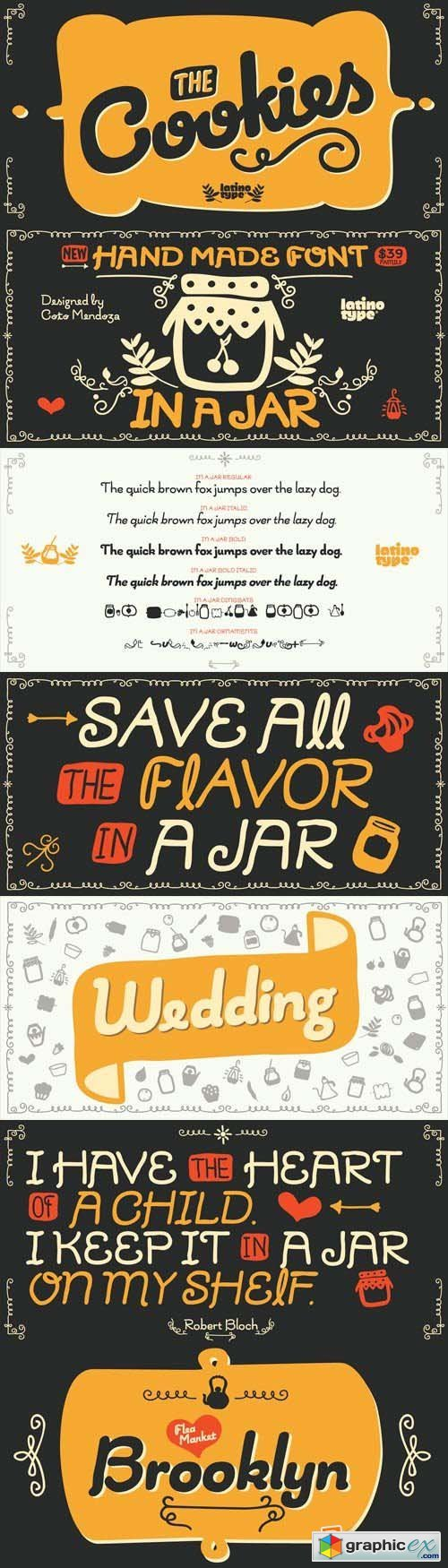 In a Jar Font Family - 6 Fonts for $79