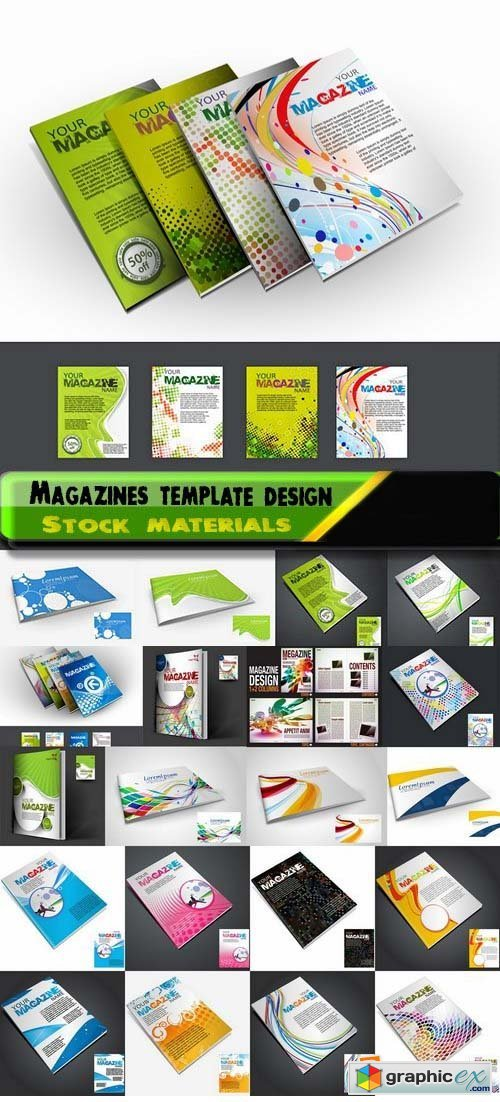 Magazines template design in vector 25xEPS