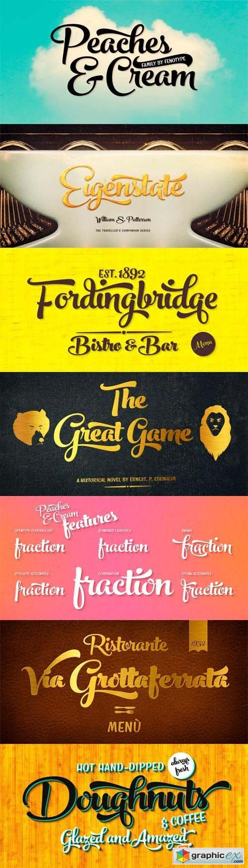 Peaches and Cream Font Family - 5 Fonts for $65