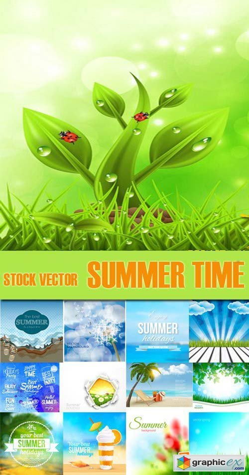 Shutterstock - Summer Time, Holiday, 25xEps