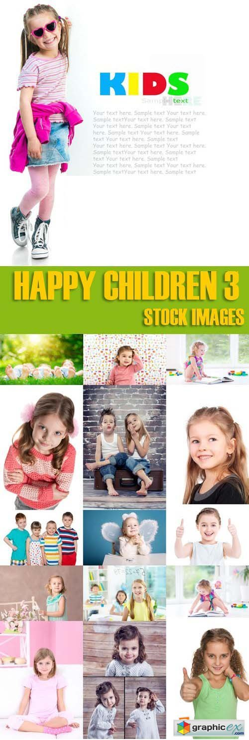 Shutterstock - Happy children 3, 25xJpg