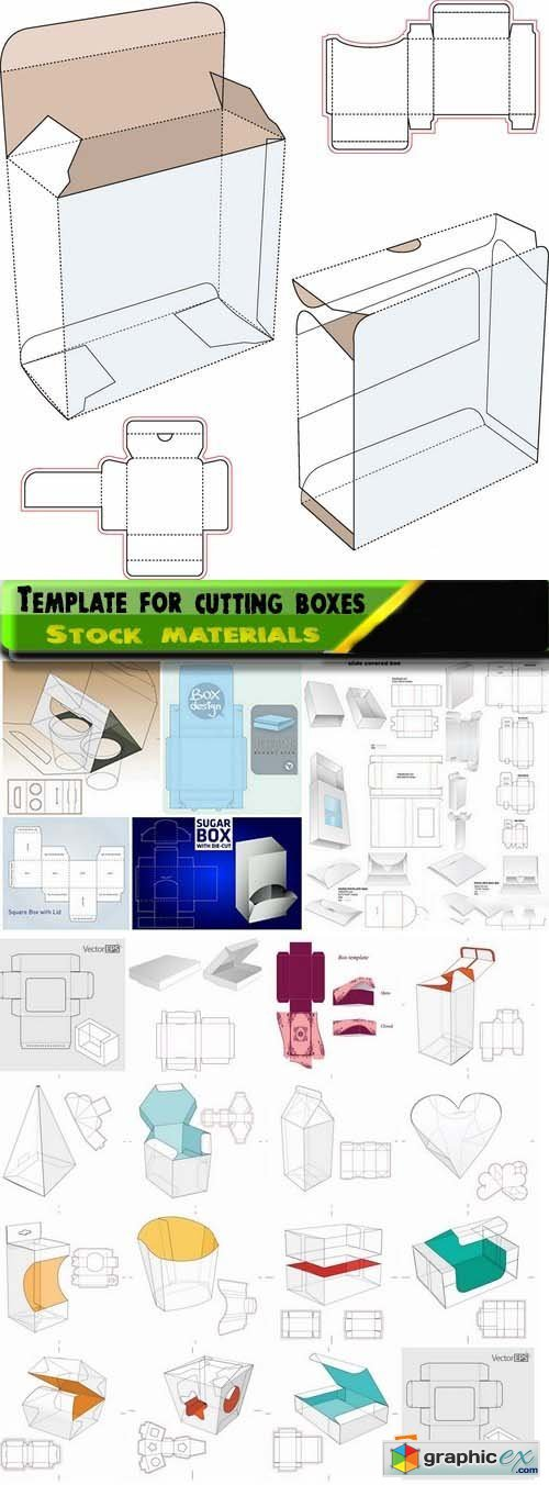 Template for cutting boxes 2 25xEPS