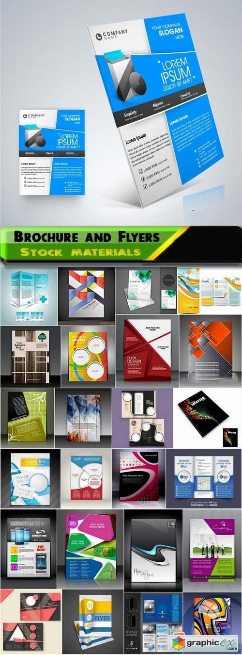 Brochure and Flyers Template Design in vector from stock 10 25xEPS