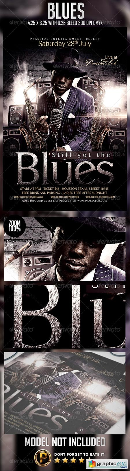 Blues Flyer Template 8325084