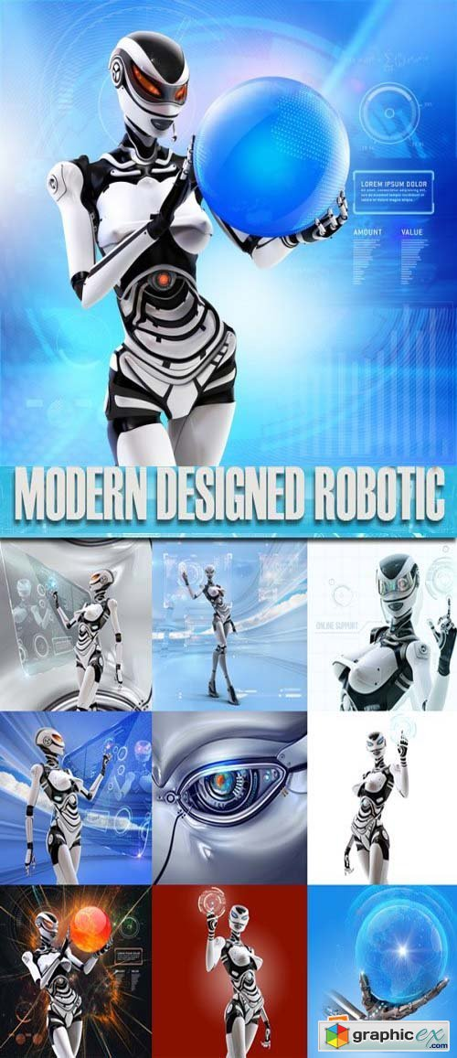 Stock Photos - Modern designed robotic, 25xJpg