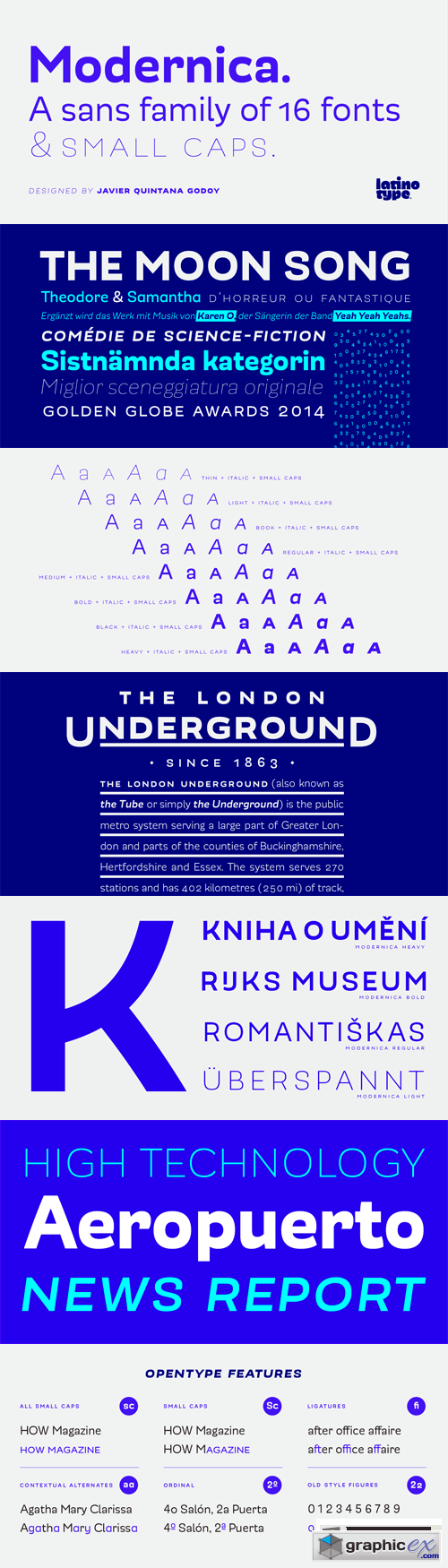 Modernica Font Family - 16 Fonts for $189