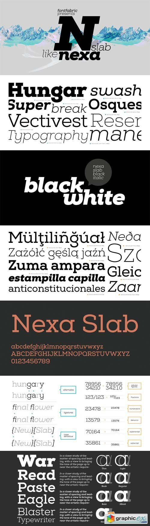 Nexa Slab Font Family - 24 Fonts for $99
