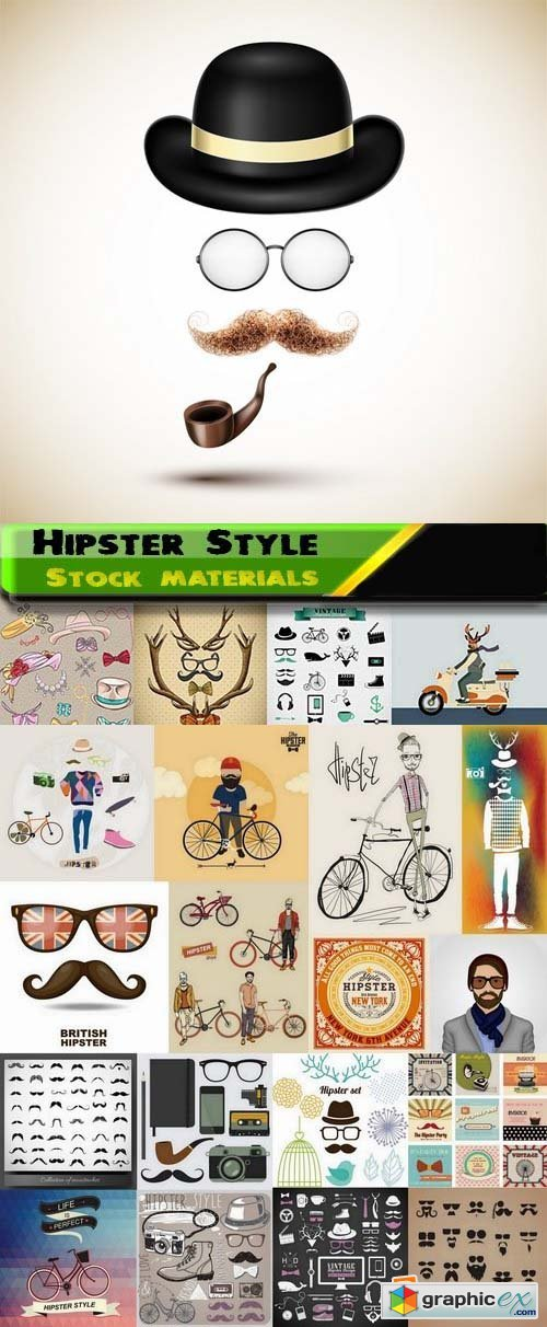 Hipster Style design elements in vector from stock 2 25xEPS