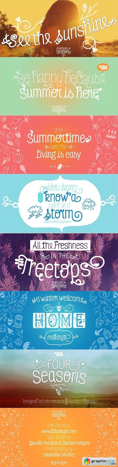 Four Seasons Font Family - 11 Fonts $429