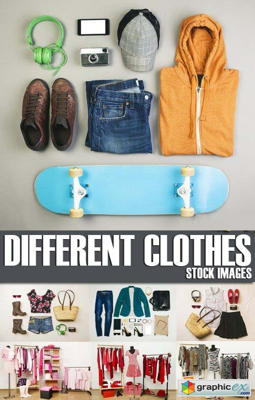 Stock Photos - Different clothes, 25xJPG