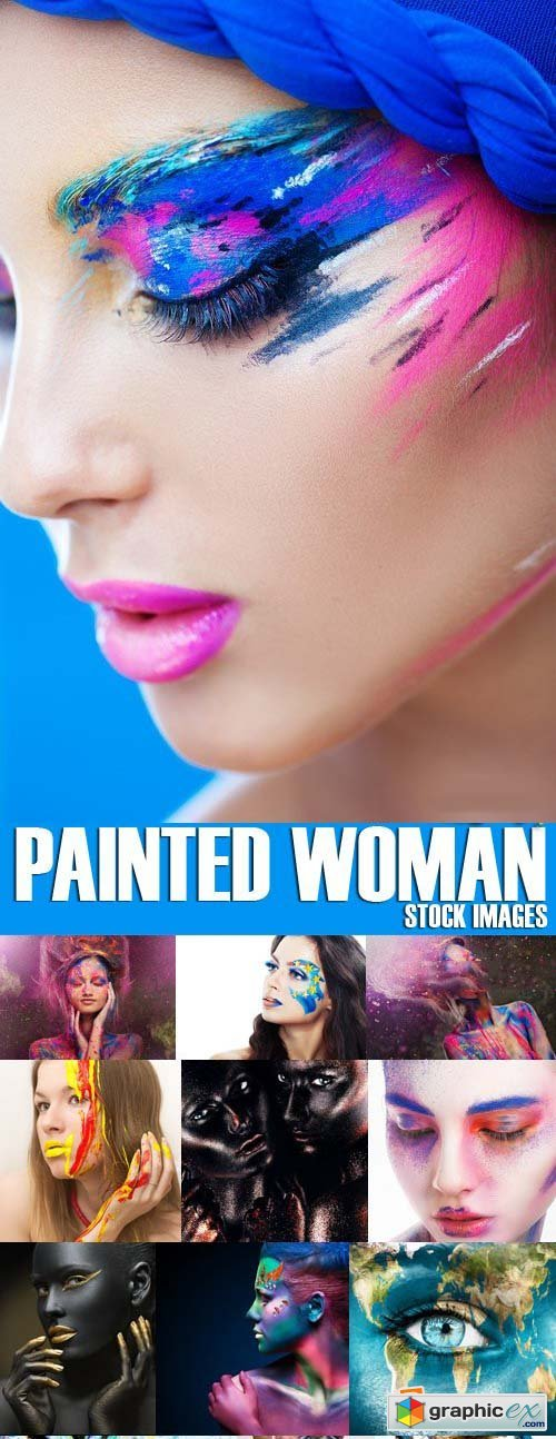 Stock Photos - Painted woman, girls, 25xJPG