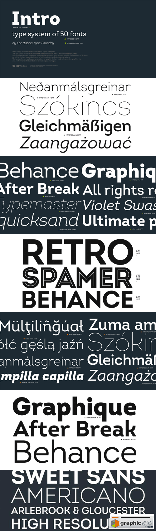 Intro Font Family - 51 Fonts for $279
